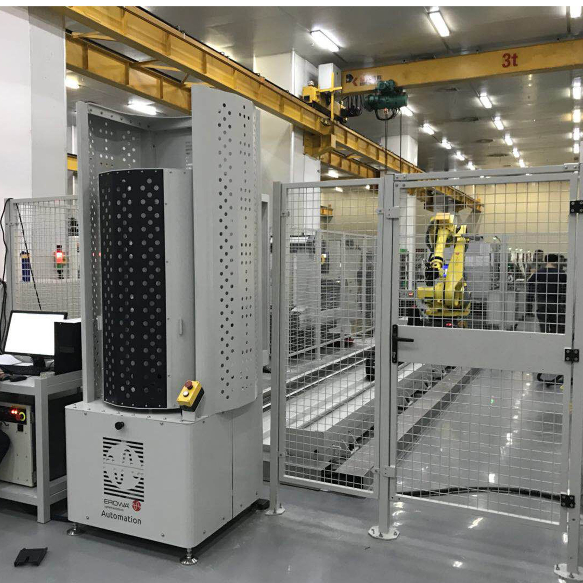 工业机器人外围料仓设备1